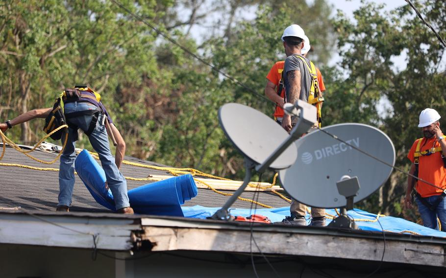 Contractors from the US Army Corps of Engineers (USACE) continue to perform free Blue Roof installations for homeowners affected by Hurricane Ida.