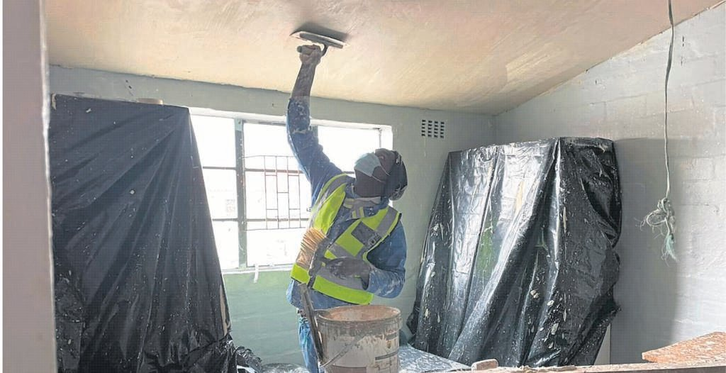 Repair and maintenance works are currently underway at Ondine Court in Manenberg.  PHOTO: City of Cape Town